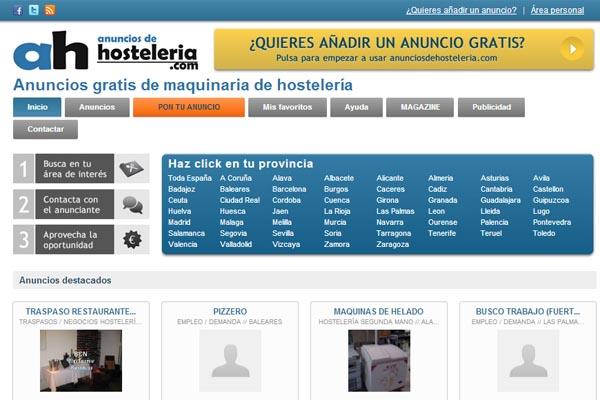 Llega la nica web de anuncios for Material hosteleria online