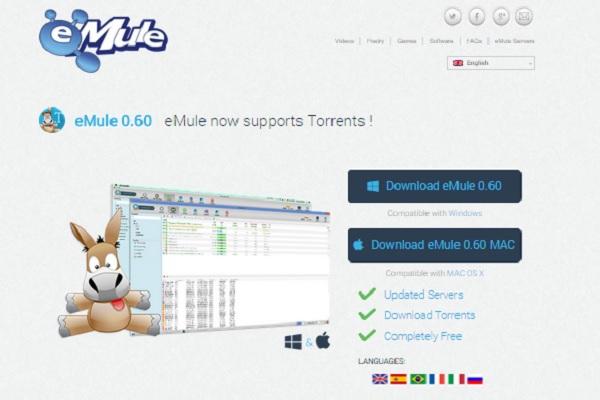 La última versión de eMule se actualiza con un buscador de torrents